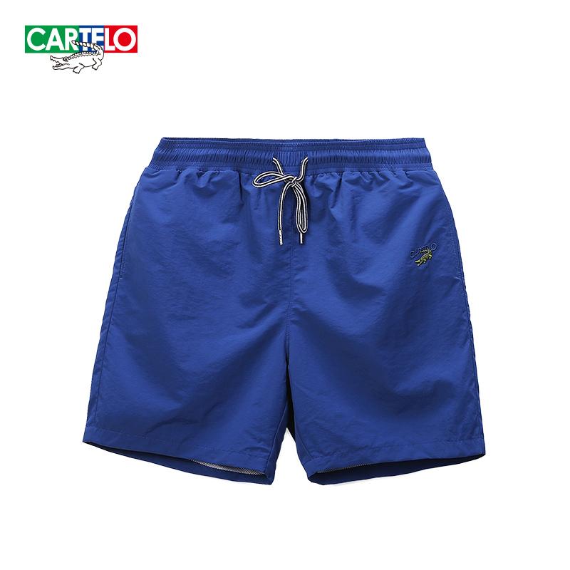 cartelo鳄鱼短裤男夏季宽松潮流运动休闲裤透气速干沙滩裤五分裤