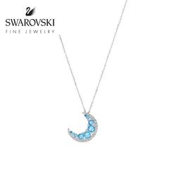 施华洛世奇WAXING CRESCENT守护之月18K金女项链高级珠宝
