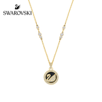 Swarovski Leather Swan Love Swan necklace collarbone chain women jewelry gift to send girlfriend
