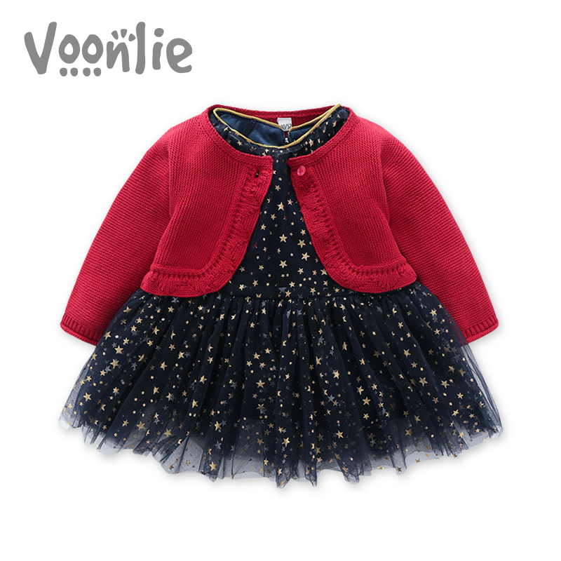 Where hunting children's clothing female baby dress autumn and winter one year old birthday dress baby princess dress new year greetings