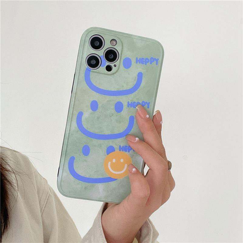 中國代購|中國批發-ibuy99|iphone|韩风笑脸适用iphone12pro/max苹果11手机壳xr全包x防摔套xs女款8p