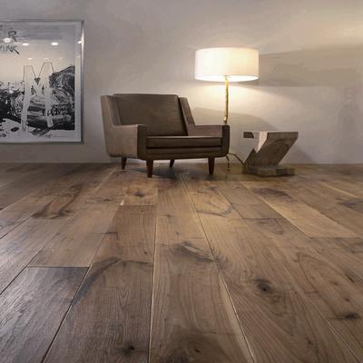 大板三层地板/黑胡桃多层实木复合地热锁扣地板15厚人字拼鱼骨拼