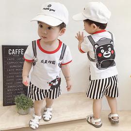 女宝宝0—1岁半男婴儿3夏装4纯棉衣服5小孩7夏季8套装6-12个月潮9