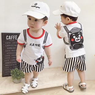 女寶寶0—1歲半男嬰兒3夏裝4純棉衣服5小孩7夏季8套裝6-12個月潮9