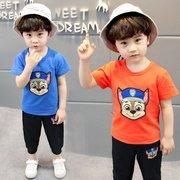 儿童短袖套装运动1-3-5周岁男童夏装小孩宝宝汪汪队衣服纯棉帅气4