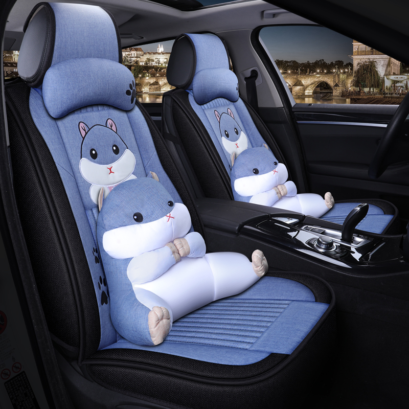 2019 new Yueda Kia yipao kx1 seat cover linen special cushion four seasons general all inclusive car seat cover