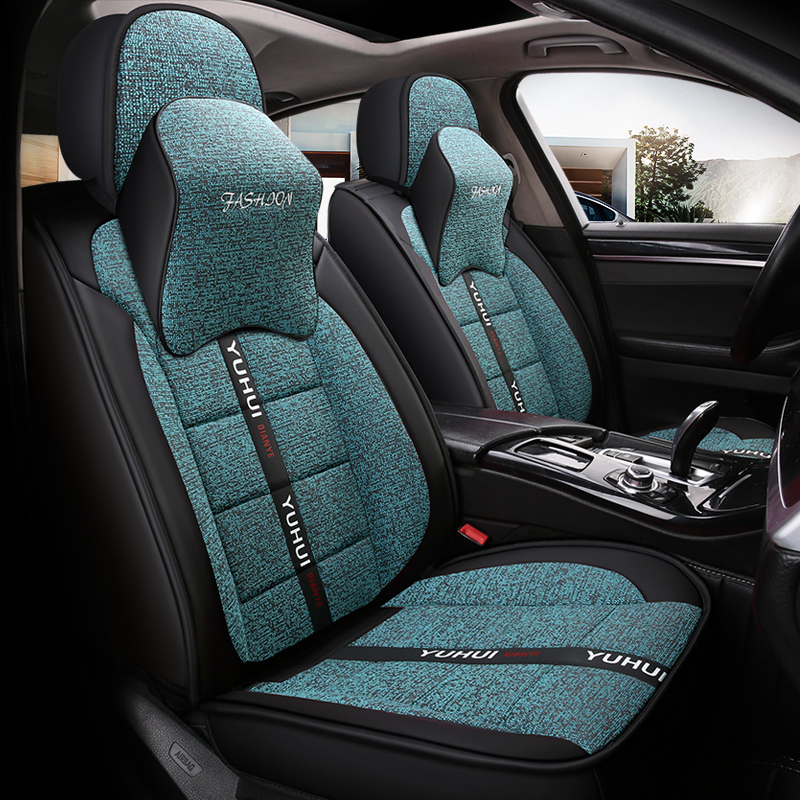 2018 FAW Volkswagen t-roc exploration song four seasons special vehicle cushion net red linen all inclusive seat cover