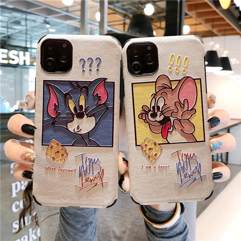 猫和老鼠三星s8+A60套note8全包s7e防摔S9手机壳s10+a9蚕丝纹a20S图片
