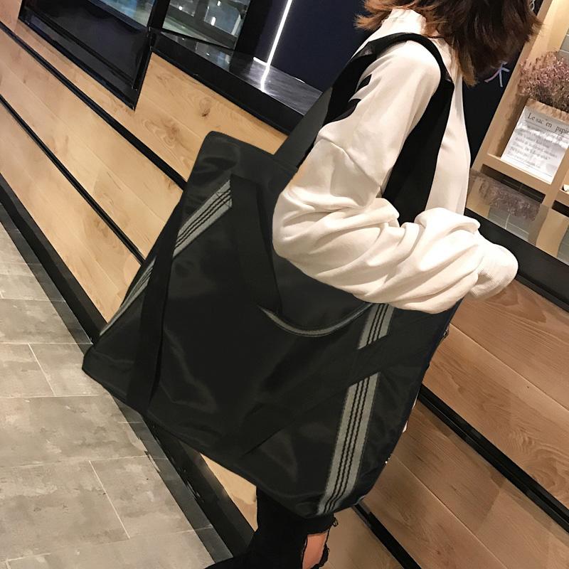 帆布包女单肩包大容量韩版超大防水尼龙布大包包2019年新款托特包