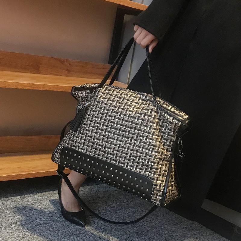手提包女大包气质女神2020新款秋冬大容量包包百搭ins单肩斜挎包