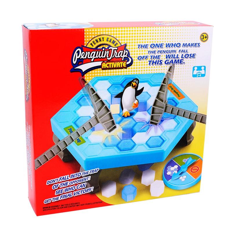 儿童宝宝拆墙大号玩具破冰企鹅砸抖音拯救敲打桌游戏冰块女孩零度