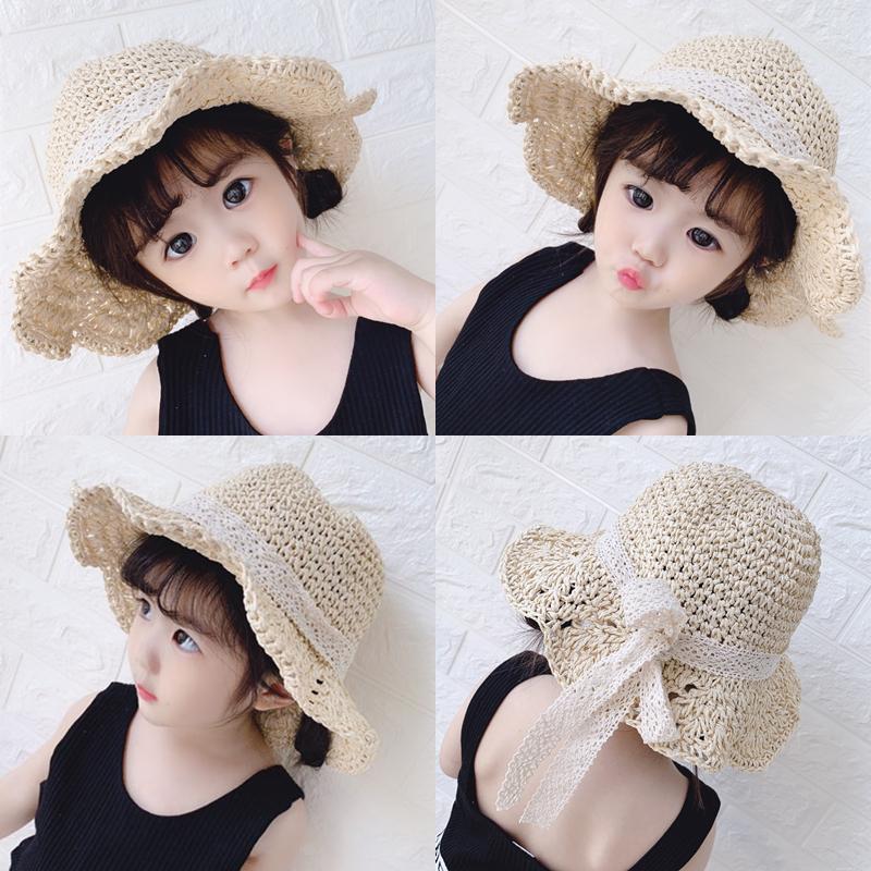 女宝宝帽子夏季遮阳渔夫帽儿童帽子