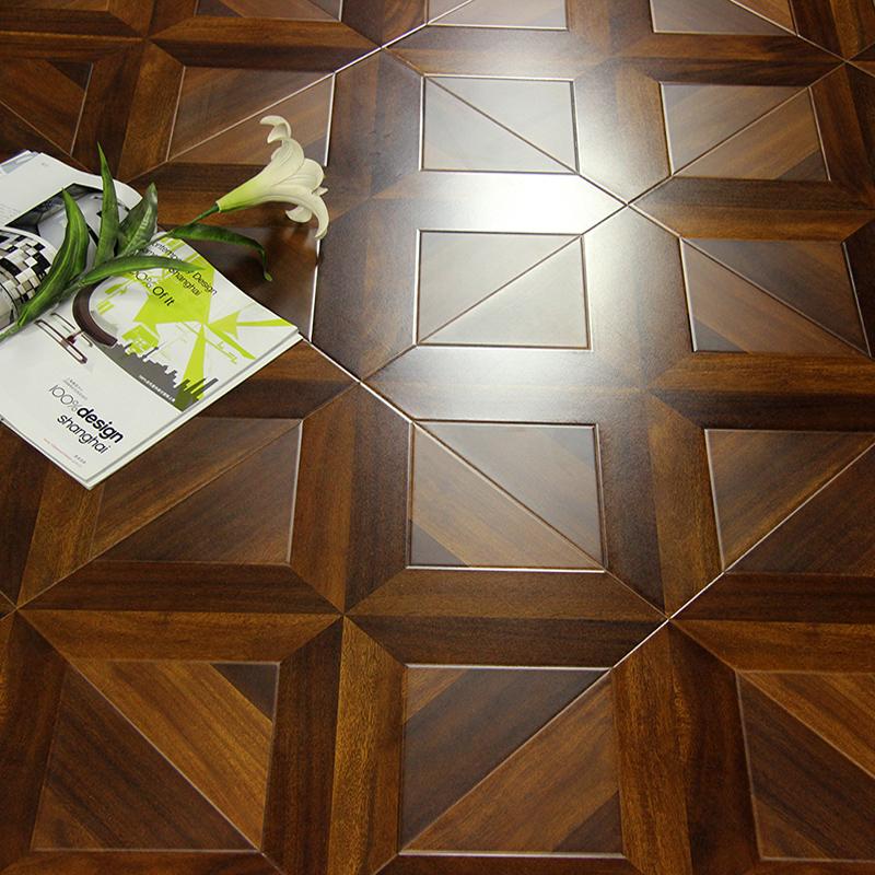 木地板强化复合防水耐磨复古12mm艺术木质地板家用美式欧式拼花板