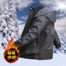 男女外套加厚加绒保暖冲锋衣工作服棉衣定制工地户外挡风防寒棉服
