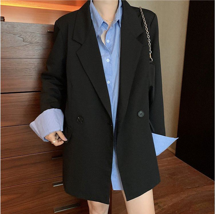 Loose top, suit coat, womens fashion gentleman spot shirt and en early autumn new a1535 two-piece set