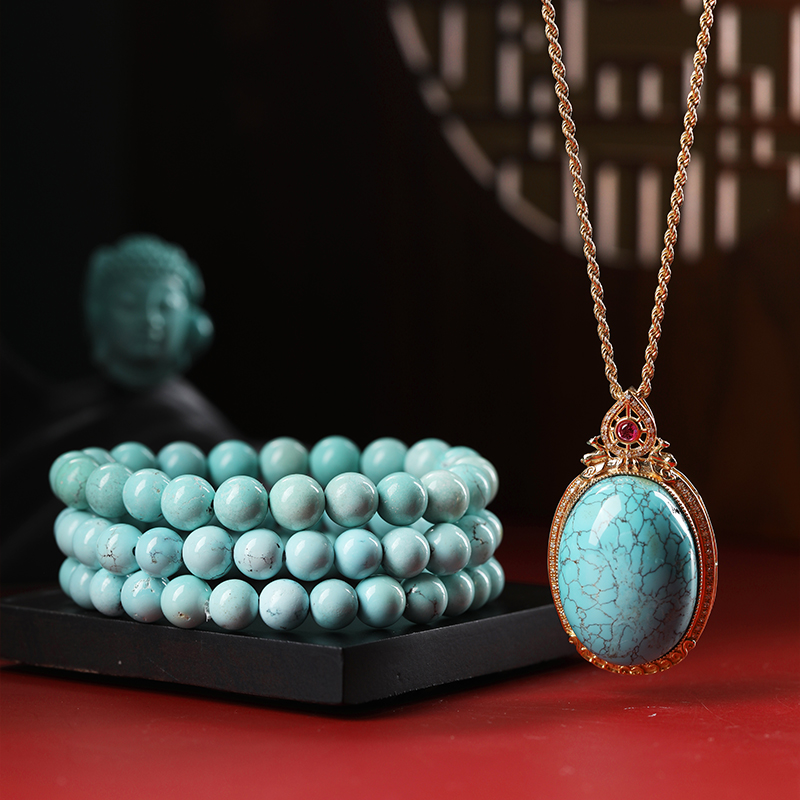 天然水晶南红玛瑙绿松石和田玉碧玺石榴石舒俱来手串手链女项链2图片