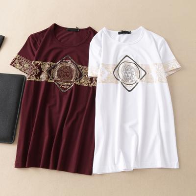 货号6606 特价P75 男士圆领短袖T恤 丝光莫代尔料 最大穿195斤