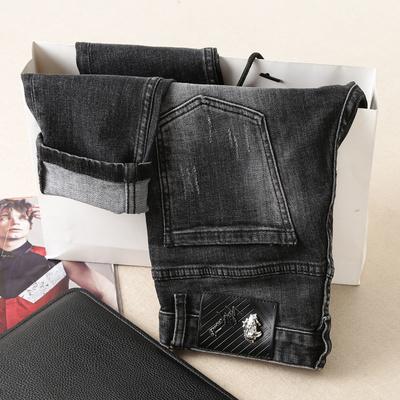 秋冬长期款 钱塘1212 8725 P170 男士修身刺绣牛仔裤 小脚 标准