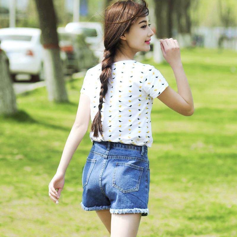 韩版牛仔裤短裤2020夏装新款高腰宽松显瘦裤子百搭学生热裤女潮