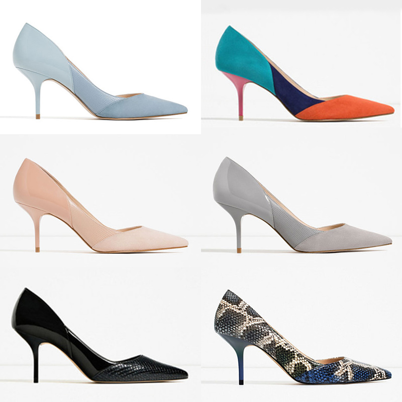Net red French girl high heels womens shoes 2020 new blue slim heel pointed fairy style sexy small CK womens shoes
