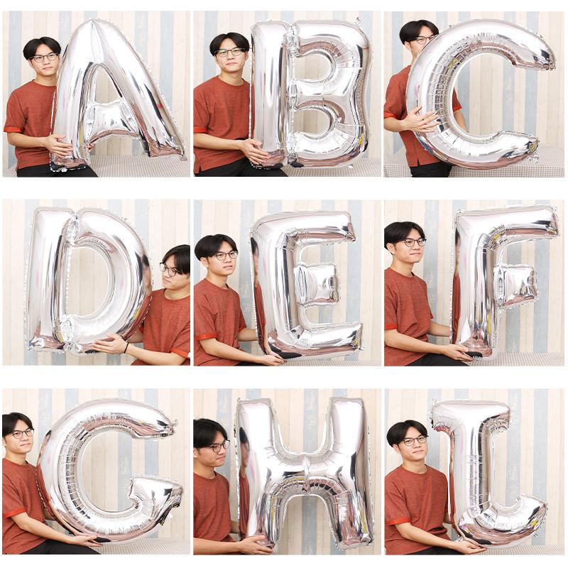 超大号40寸金银英文字母铝膜气球11月04日最新优惠