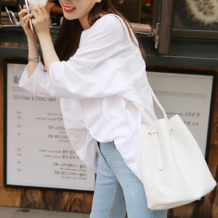春夏上衣女2019新款韩版中长款打底衫白色五分袖T恤百搭宽松体恤热销133件假一赔三