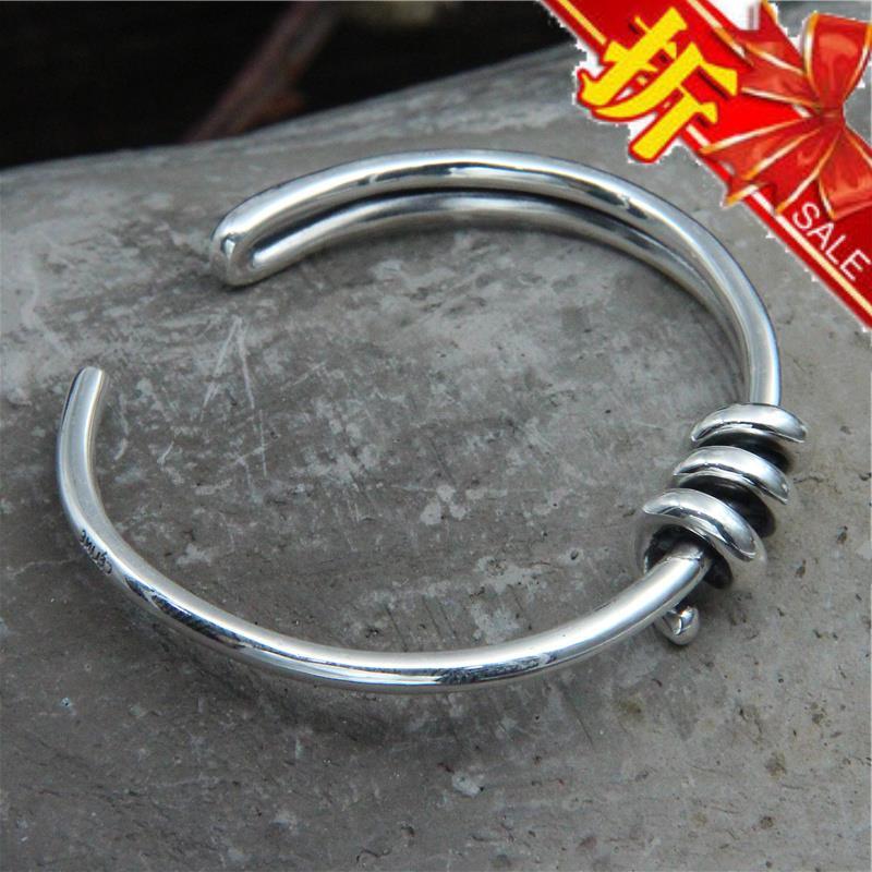Hand made heirloom knot Thai silver S925 simple Bracelet man rope bracelet Jewelry woman