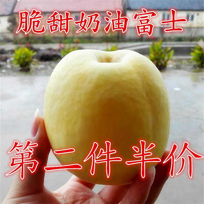脆甜奶油山东烟台黄金红富士苹果75-80水果11-12个净重4.5斤包邮