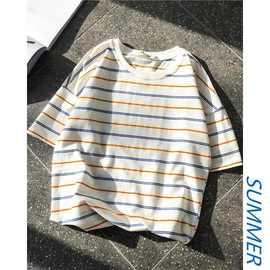 正品乔纳阿迪达短袖T恤男ins潮上衣服韩版宽松网红潮牌个性时尚条图片