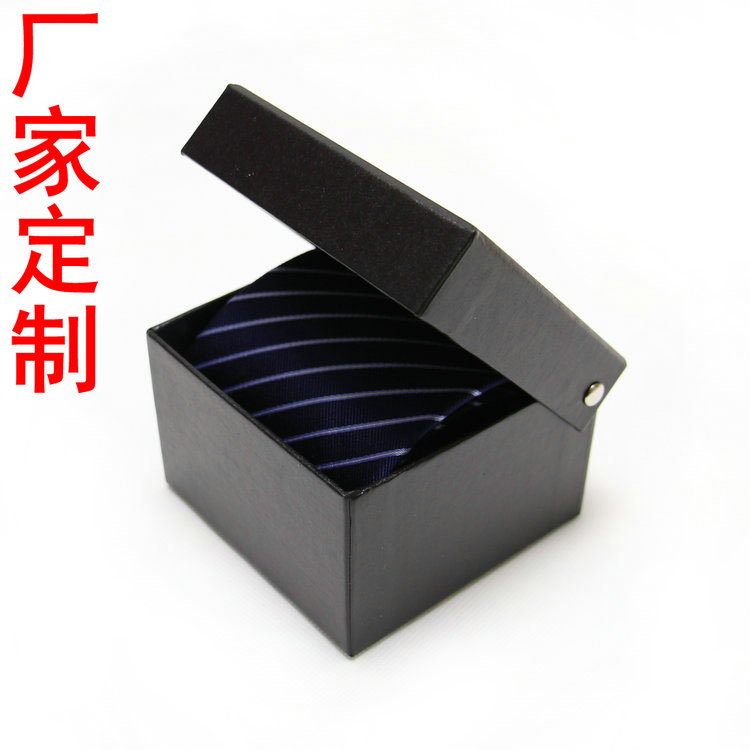 Black red blue tie packing box tie square rectangle tie bow tie gift box custom logo