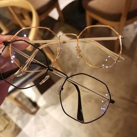 小红书2019防过敏六边形眼镜框男网红韩版潮眼睛框镜架女可配镜片图片
