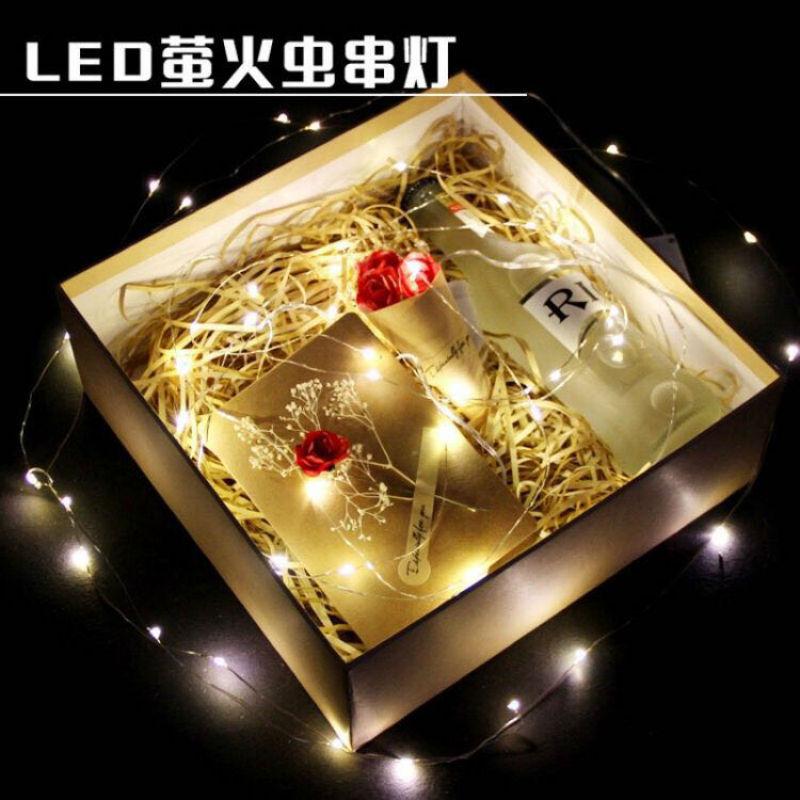 LED迷你紐扣電池銅線銅絲燈花束蛋糕裝飾鮮花DIY彩燈禮盒線小燈串