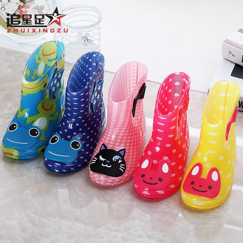 特价春夏儿童雨鞋男童女童宝宝防滑雨靴幼儿水鞋小童大童小孩胶鞋