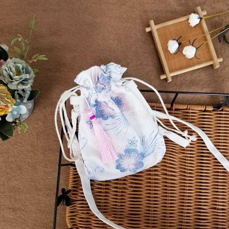 新款百搭斜挎包 2020儿童古风汉服刺绣手提包 可拆卸 女童可背