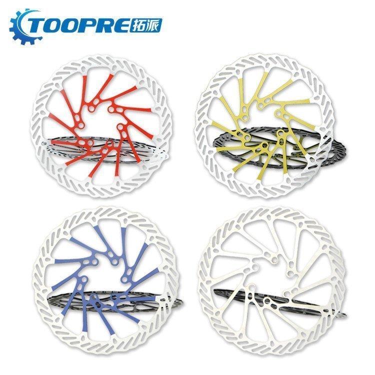 TOOPRE горный велосипед дисковые тормоза лист 160mm велосипед тормозных колодок тормозная жидкость цвет 6 гвоздь G3 диск одиночная машина монтаж