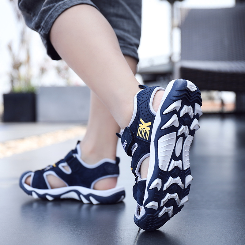 Boys sandals summer Baotou anti-collision 4 soft bottom anti-skid 5 middle school children 6 students 7 Beach Shoes 8 children versatile 9 years old