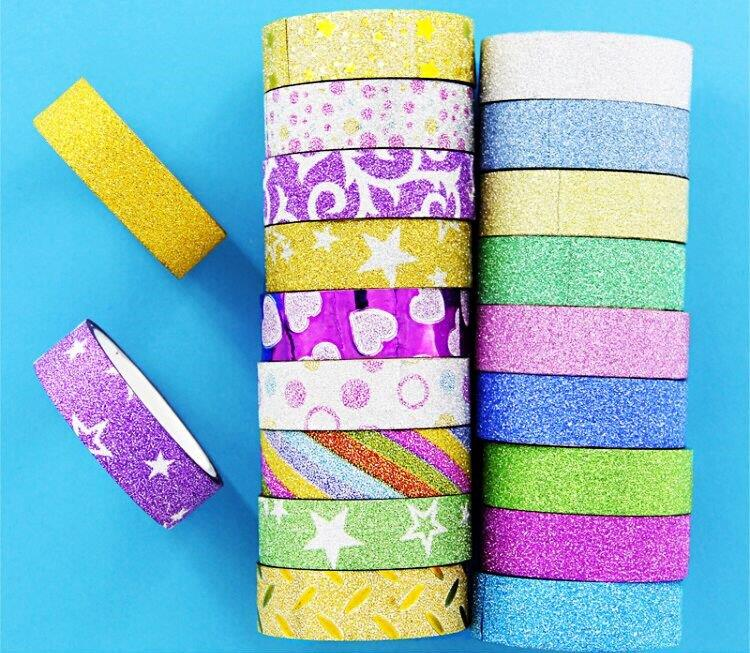 Paper tape, Korean version, Japanese style, waterproof, fashionable, colorful, retro creative, rainbow, primary school students, colorful Jincong tape, Korean