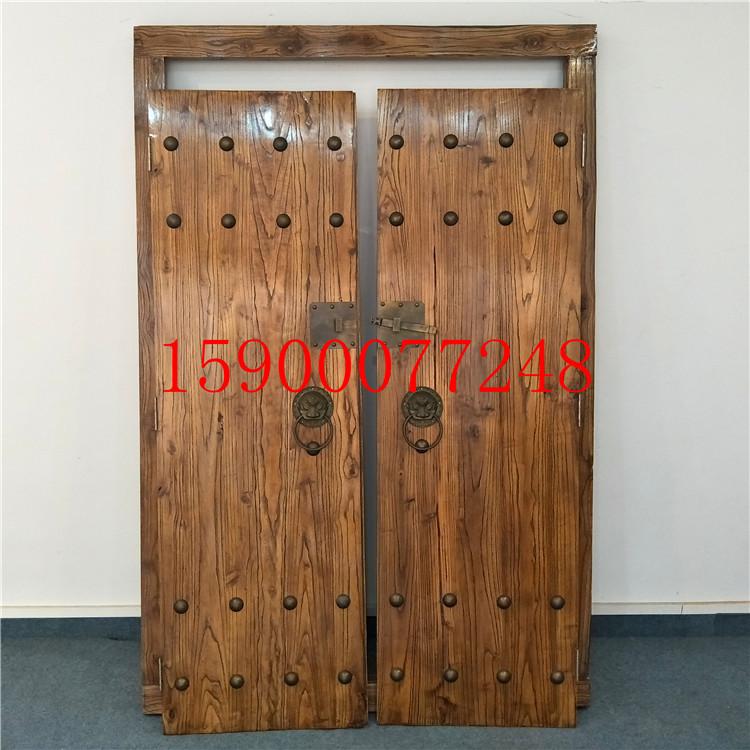 实木别墅大门对开门家用庭院门乡村双开门中式仿古大门木门进户门
