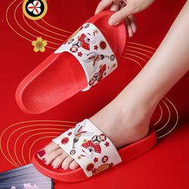 原创日式和风ins拖鞋女外穿时尚个性情侣国潮牌防水家居室内凉拖