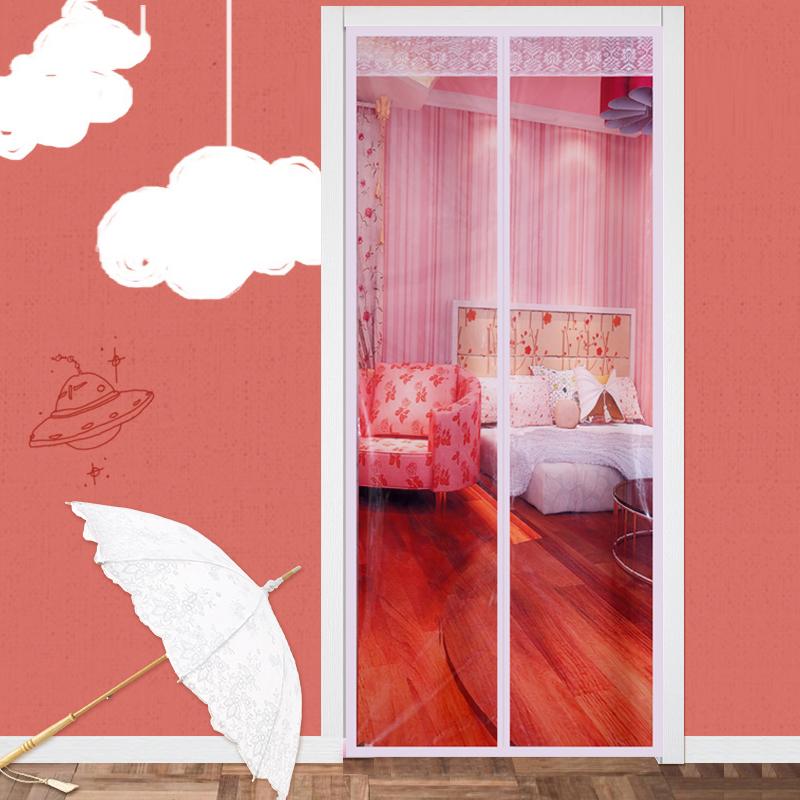 透明空调门帘厨房防油烟冬季卧室保暖磁性加厚隔断防风防蚊塑料