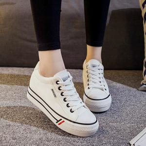 女孩内增高板鞋2017新款10-15岁中学生透气运动鞋11-13大童跑步鞋