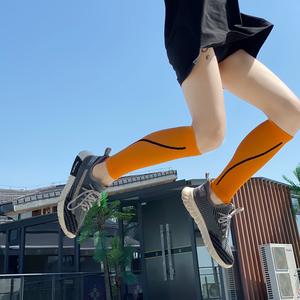 高档跑步压缩小腿套运动越野骑行护腿马拉松压力健身男女篮球套袜