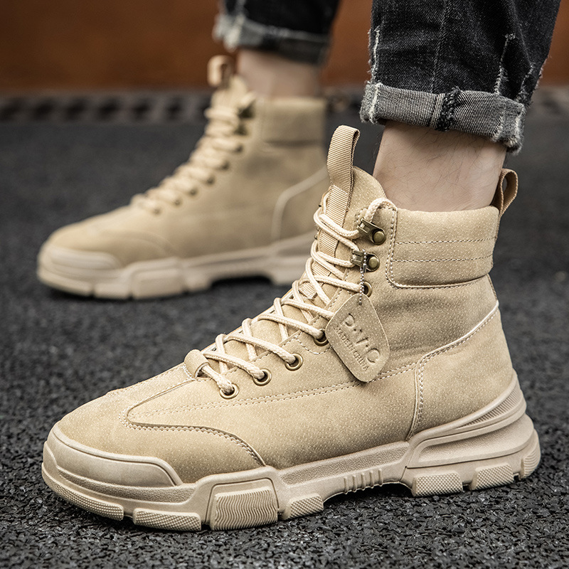 New winter Martin boots mens boots fashion high help mens shoes retro casual work wear shoes mens leather boots outdoor