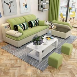 沙发小户型简约现代客厅整装三人双人可拆洗出租房简易家具布沙发图片