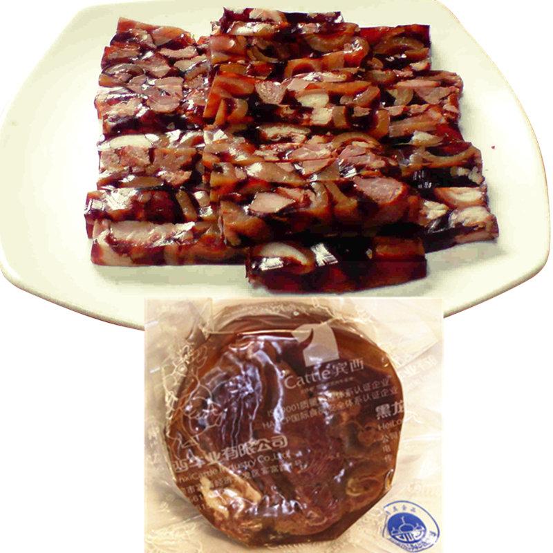 宾西筋花牛肉清真食品牛肉焖子香肠肉筋肠水晶牛肉罗汉肚满4包邮