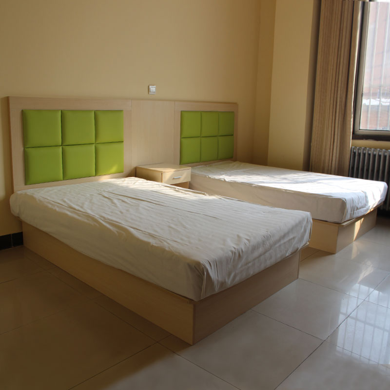 Hotel plate type single double bed hotel bedside soft bag 1.2m bed full set of modern simple rental housing furniture