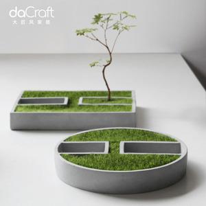 创意水泥粗陶花盆