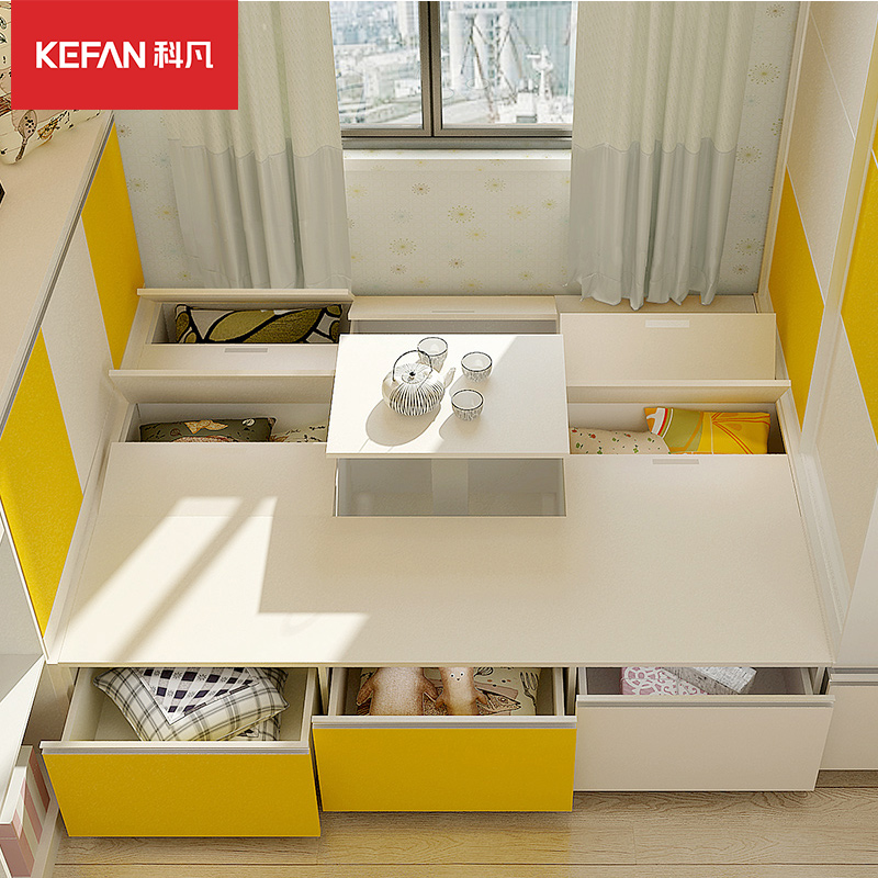 Kefan whole house customized small family tatami bed childrens room study cloakroom wardrobe overall deposit for Christmas