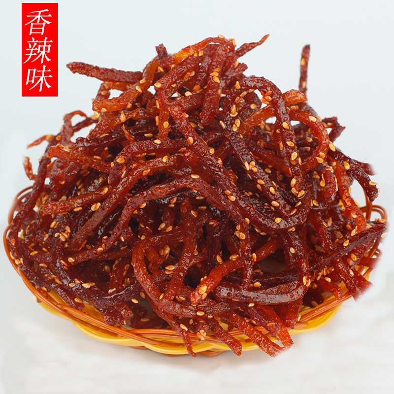 Yangjiang specialty sesame spicy shredded eel bag eel larvae dried seafood ready to eat snacks 3 pieces parcel post