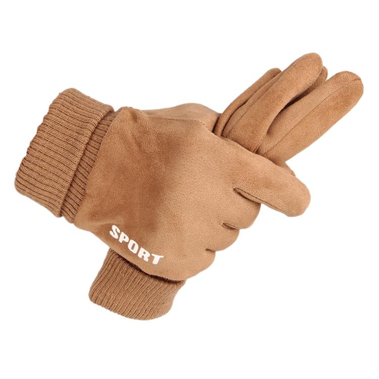 冬は男性用の厚いスエードのスエード滑り止め手袋を指します。